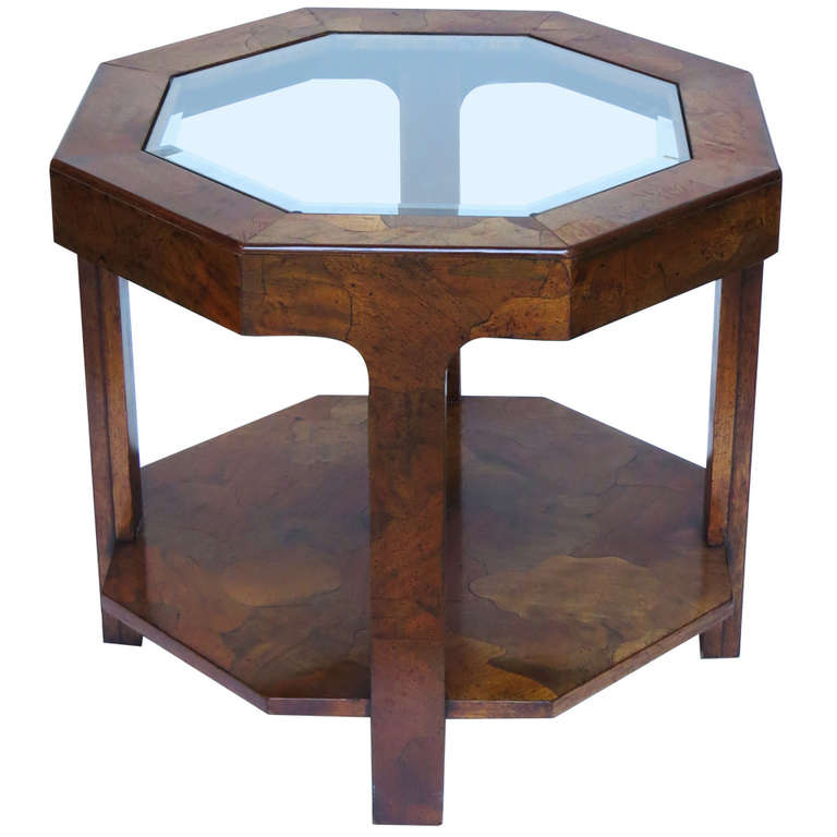 1970s Octagonal Side Table For Sale