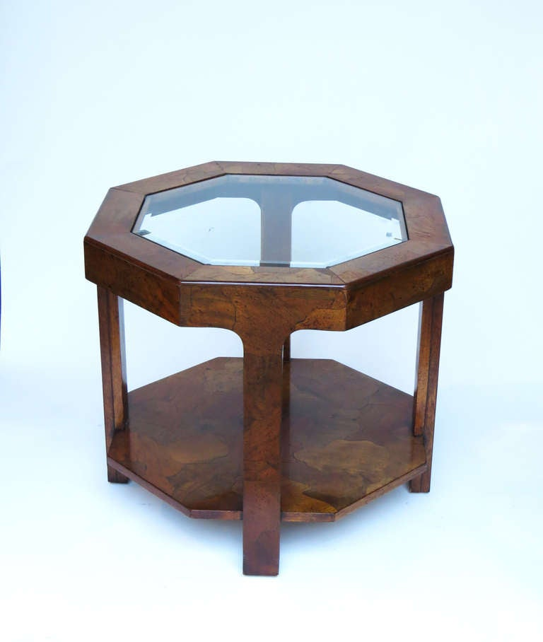 Mid-Century Modern 1970s Octagonal Side Table For Sale