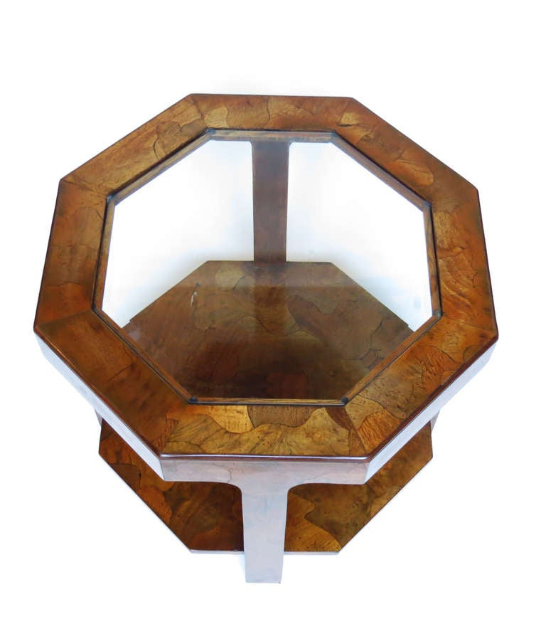 1970s Octagonal Side Table In Excellent Condition For Sale In Los Angeles, CA