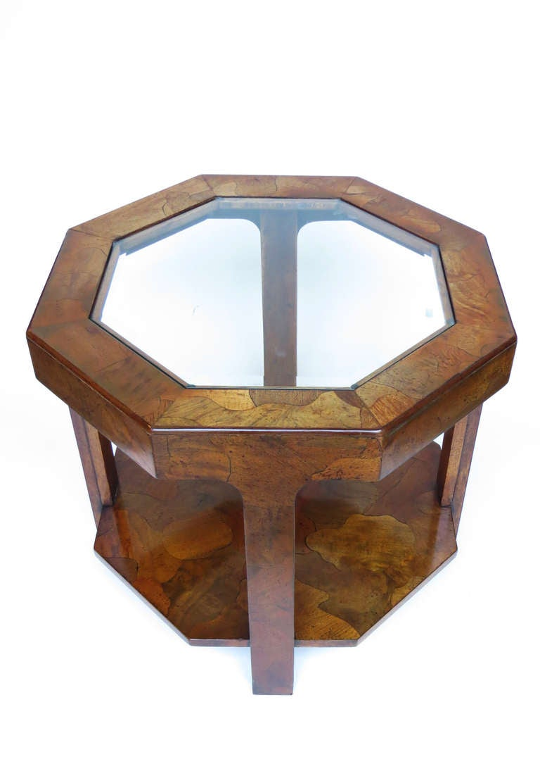 1970s Octagonal Side Table For Sale 1