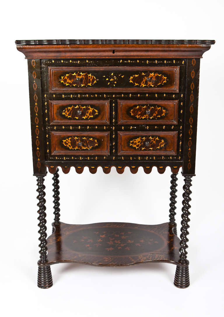 Anglo Indian Secretary with Secret partment For Sale at