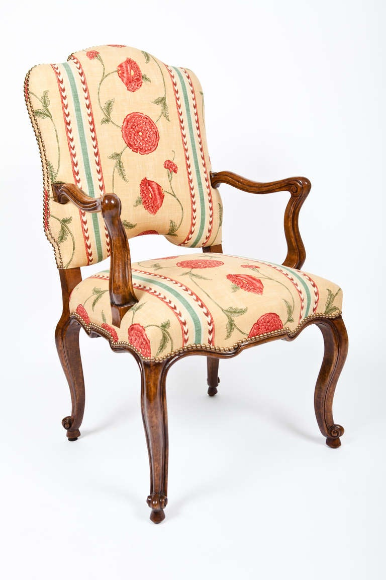 Set Of 4 Dining Chairs ~ Set of upholstered arm dining chairs at stdibs