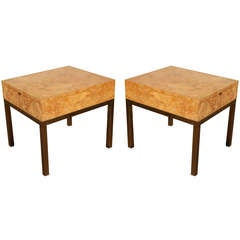 Pair Milo Baughman End Tables