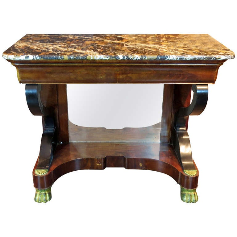 French Marble-Top Console 2