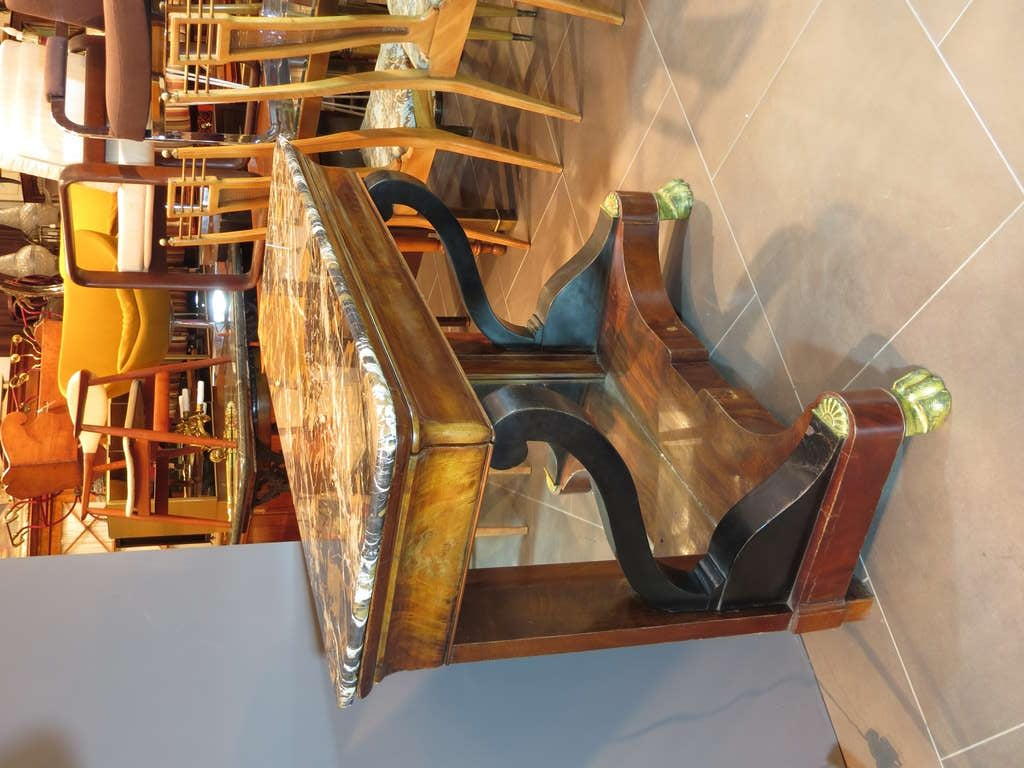 French Marble-Top Console 3