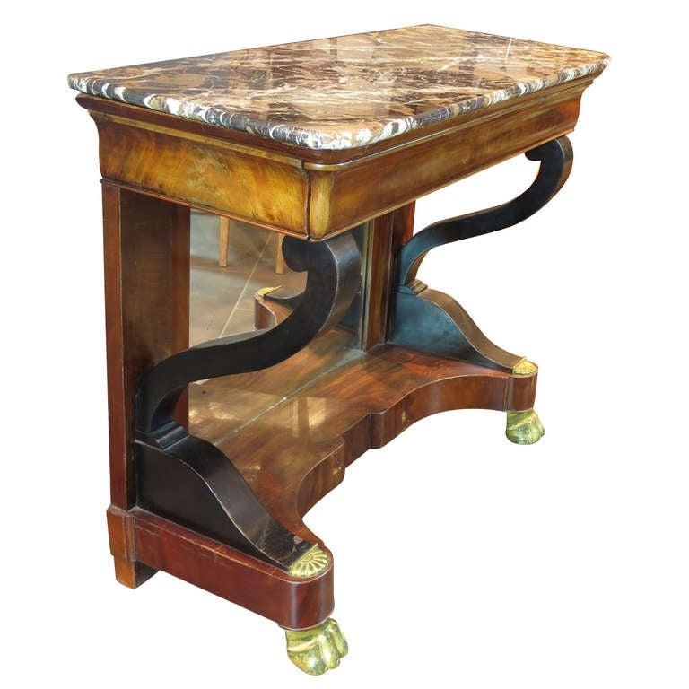 French Marble-Top Console 1