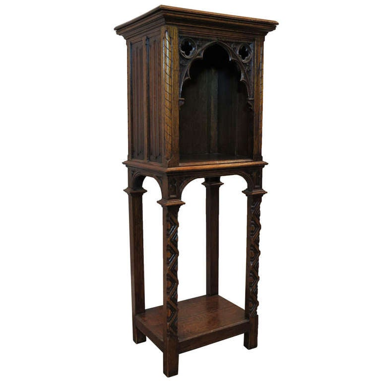 1920s Gothic Spanish Revival Oak Stand at 1stdibs