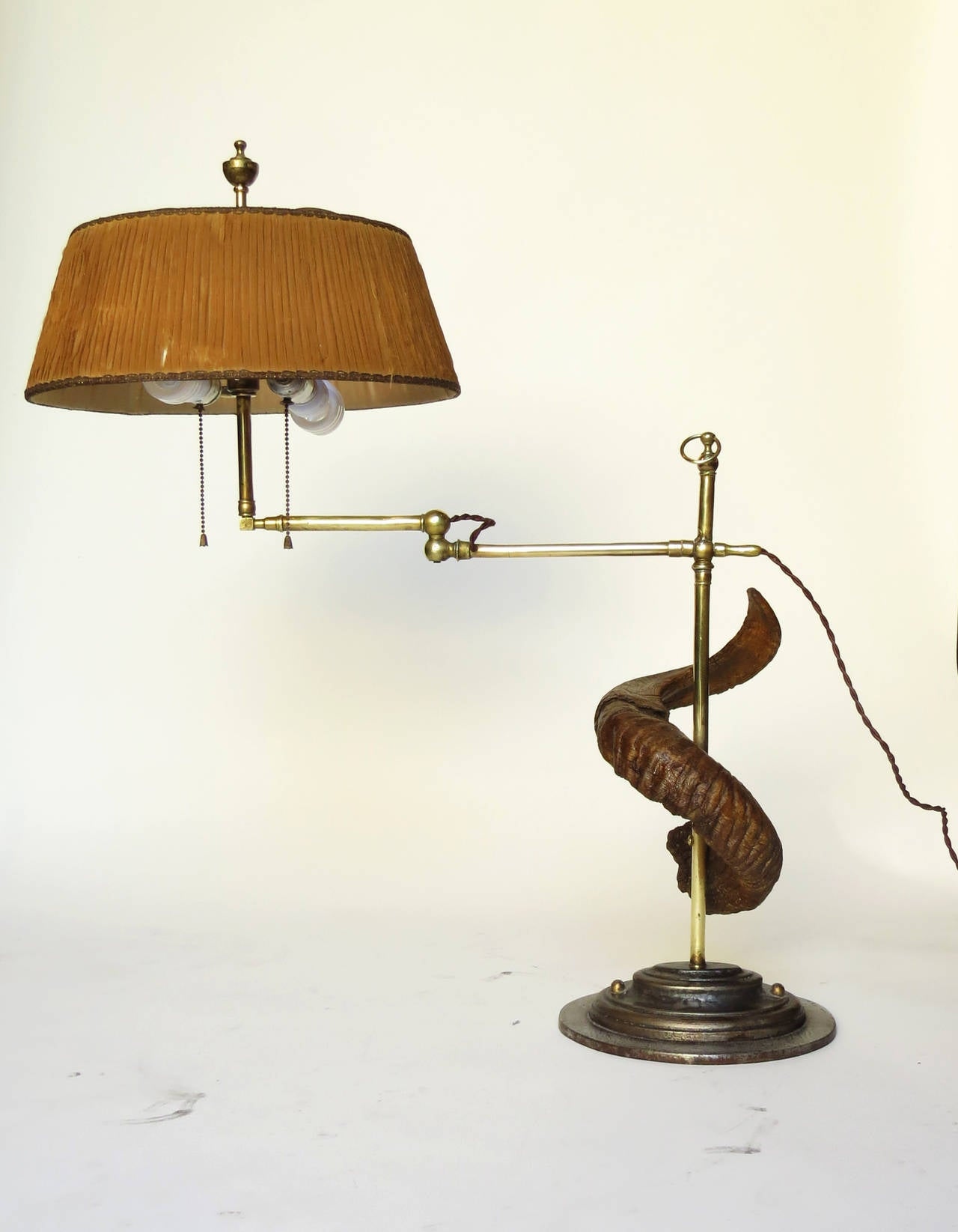 this antique swing arm sculptural table lamp is no longer available. Black Bedroom Furniture Sets. Home Design Ideas