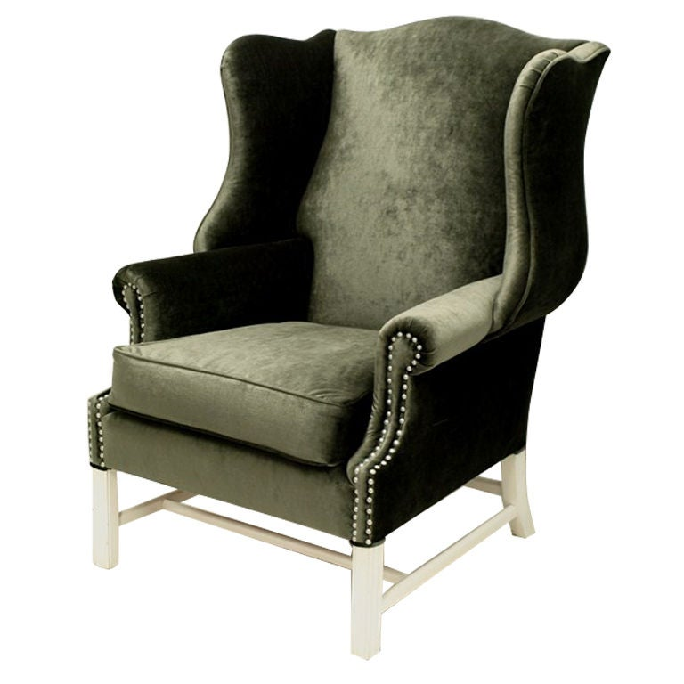 1960s Missoni Wingback Chair At 1stdibs: 1960's Tall And Over Sized Wing Back Chair At 1stdibs