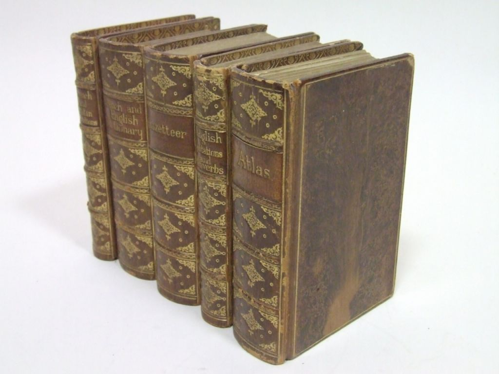 Antique Leatherbound Reference Library for Asprey of London image 2