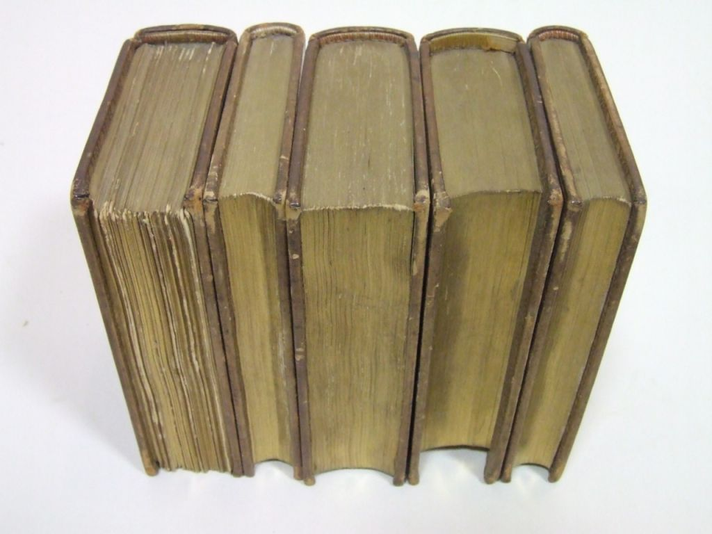 Antique Leatherbound Reference Library for Asprey of London image 3