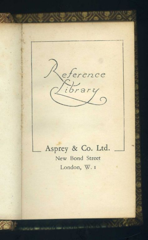 Antique Leatherbound Reference Library for Asprey of London image 5