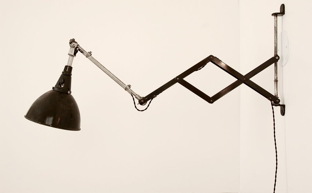 Wall Lamp With Extending Arm : Carl Fischer for Midgard Adjustable/Extending Arm Wall Mount at 1stdibs