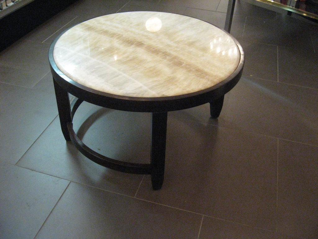 Beautiful Onyx Top With Mahogany Coffee Table At 1stdibs