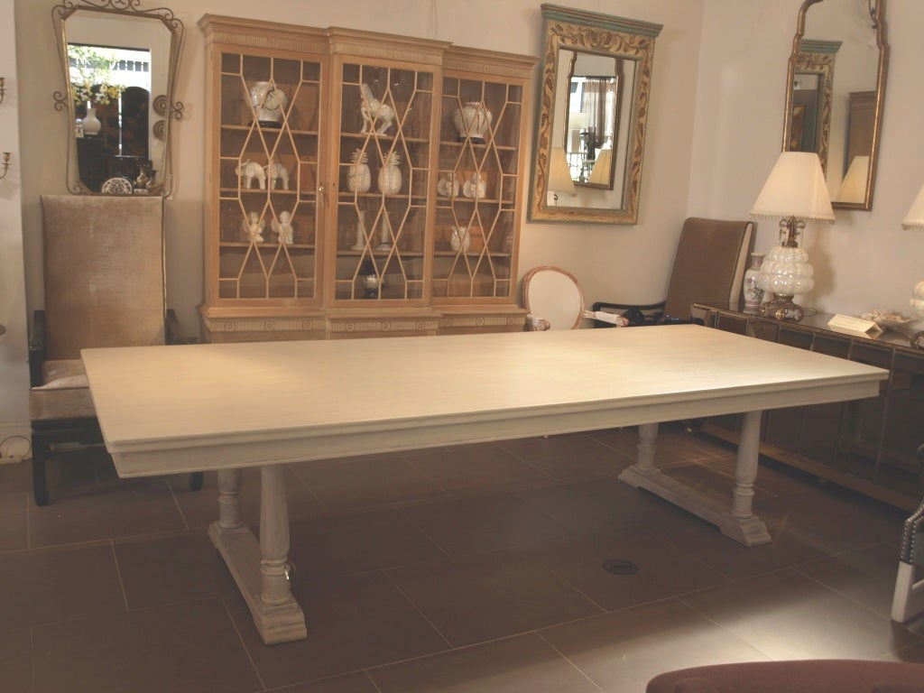 Large 10 feet french country farm house dining table at for 10 ft dining room table