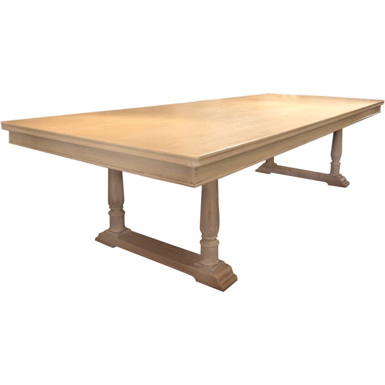Large 10 feet french country farm house dining table at for 10 ft farmhouse table