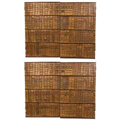 Early 18th century leather book binding panels