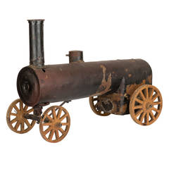 Substantial 1930s American Folk Art Steam Train Model