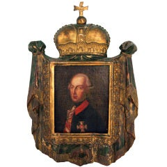Early 19th Century Portrait In Carved Giltwood Frame