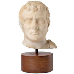 Ancient Roman Hellenistic Marble Bust of a Man