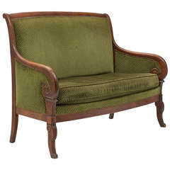 French Empire Mahogany Settee