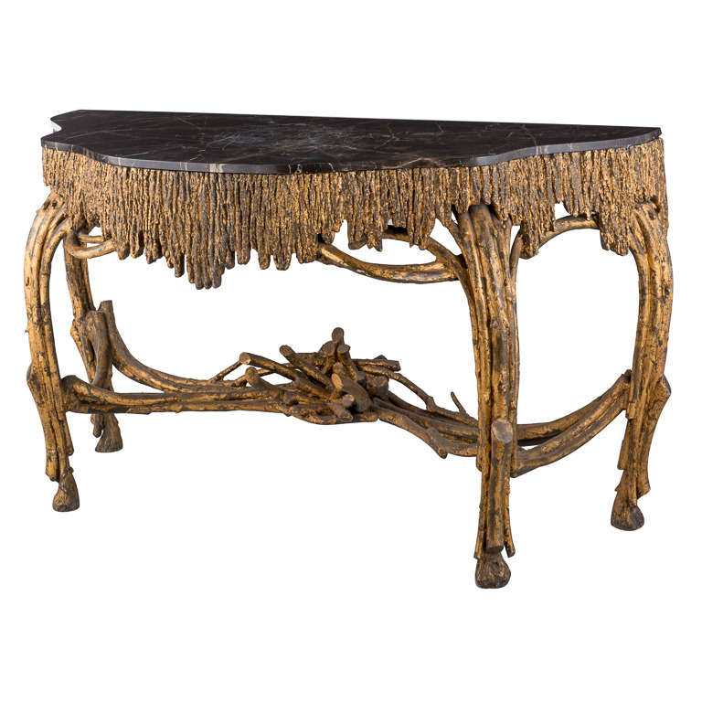 19th century continental faux bois console table at 1stdibs - Table console bois ...