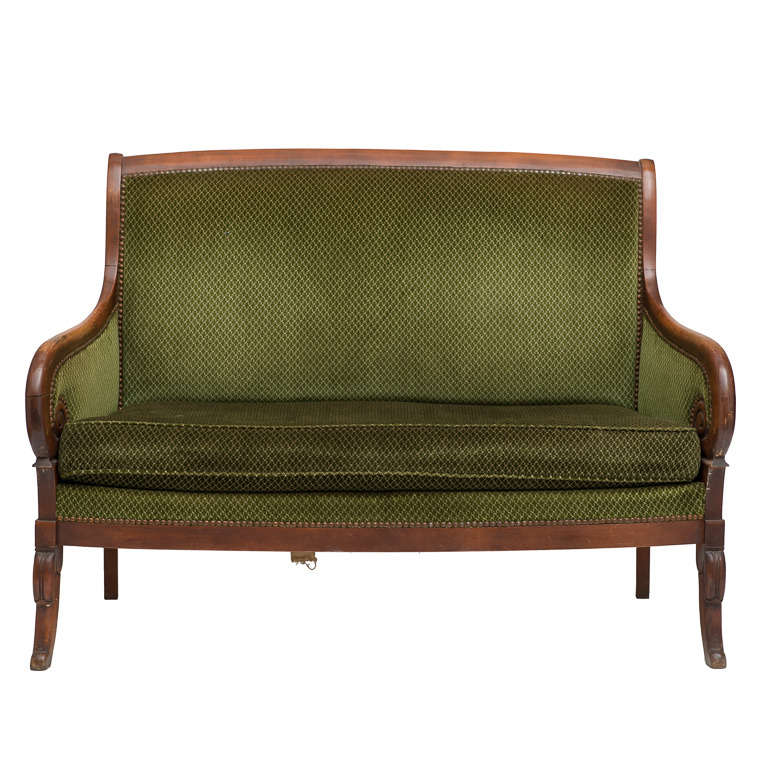 French empire mahogany settee for sale at 1stdibs for Settees for sale