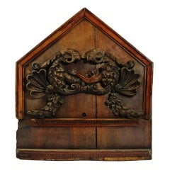 Rare 17th Century Baroque Fraternal Panel