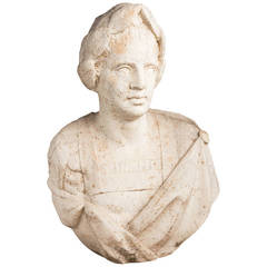 Renaissance Bust of Figure in Roman Garb