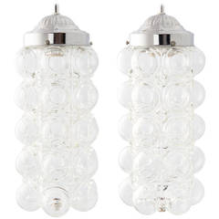 Mid-Century Modern Italian Glass 'Bubble' Lantern Fixtures