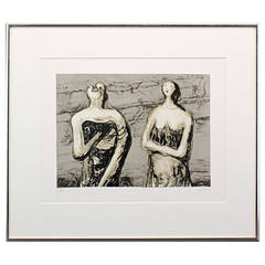 Henry Moore Two Women Variations Lithograph