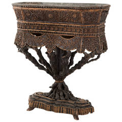 19th Century Carved Root Wood Jardiniere