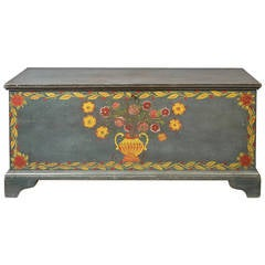 Paint Decorated Blanket Chest