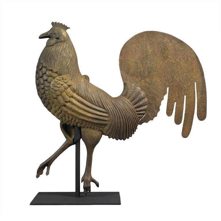Antique Rooster Weathervane: Rooster Weathervane At 1stdibs
