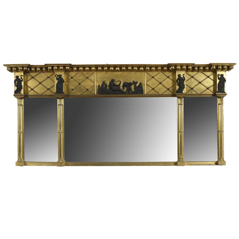 Federal Over Mantel Mirror At 1stdibs