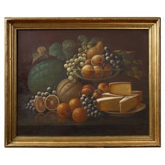 American School Still Life of Fruit, Late 19th Century