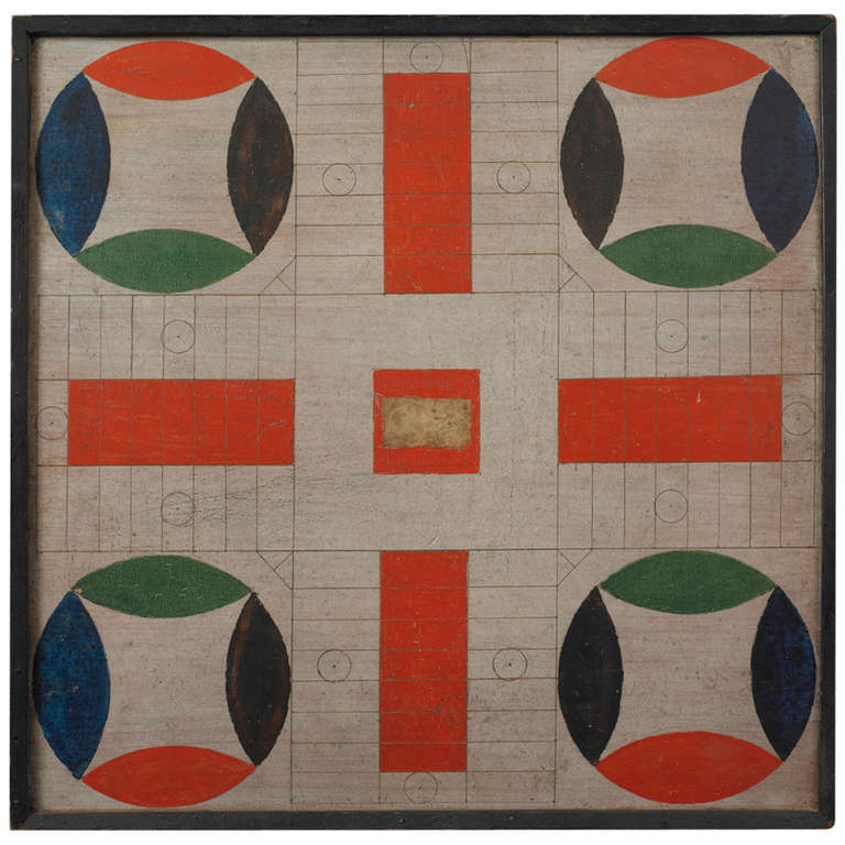 Parcheesi Game Board At 1stdibs