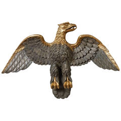 Carved Eagle with Outstretched Wings
