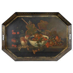 Exceptional Painted Tin Tray