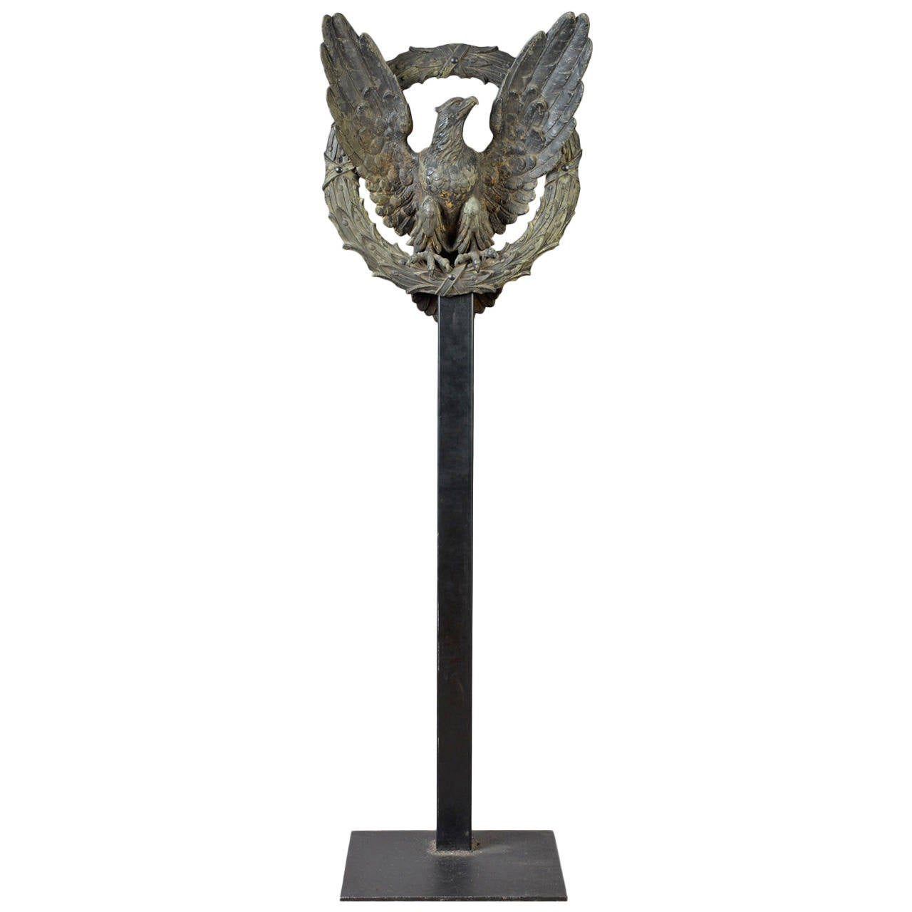 Architectural Eagle and Laurel Wreath Element For Sale