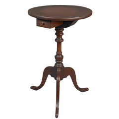 Rare Chippendale Candlestand with Sliding Drawer