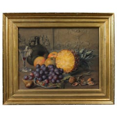 Still Life of a Pineapple, Grapes, Apples and Nuts Painting