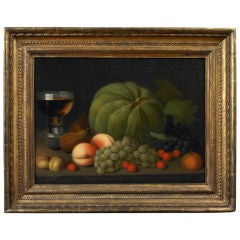 Still Life of Fruit on a Console