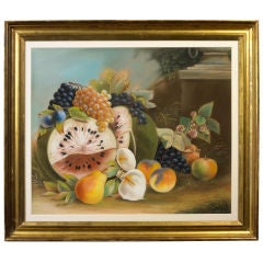 Still Life of Fruit in a Landscape Setting