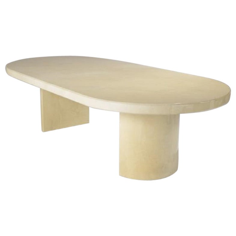Karl Springer Style Racetrack Dining Table