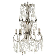 Italian Crystal Eight-Light Chandelier