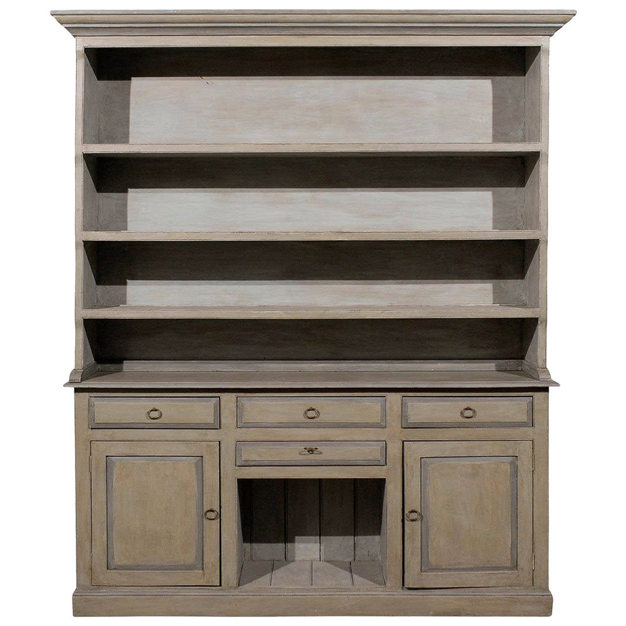 Painted Wood Furniture And Cabinets: American Painted Wood Cabinet From The 1920s For Sale At