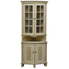 Swedish Late 18th-Early 19th Century Period Gustavian Painted Wood Cabinet