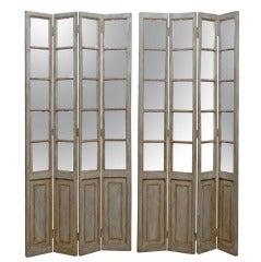 Pair of Mirrored Screens