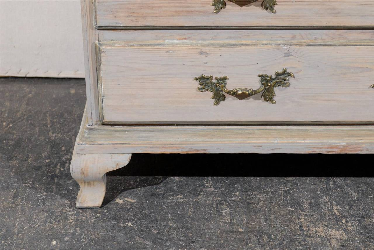 Late 18th Century Swedish Period Rococo Painted Wood Cabinet For Sale 3